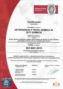 Certificado ISO 9001_2015 DYT QUIMICA
